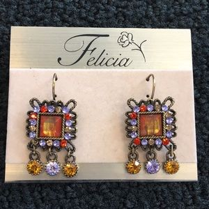 Jewelry - Felicia Topaz Multi Color Stone Earrings
